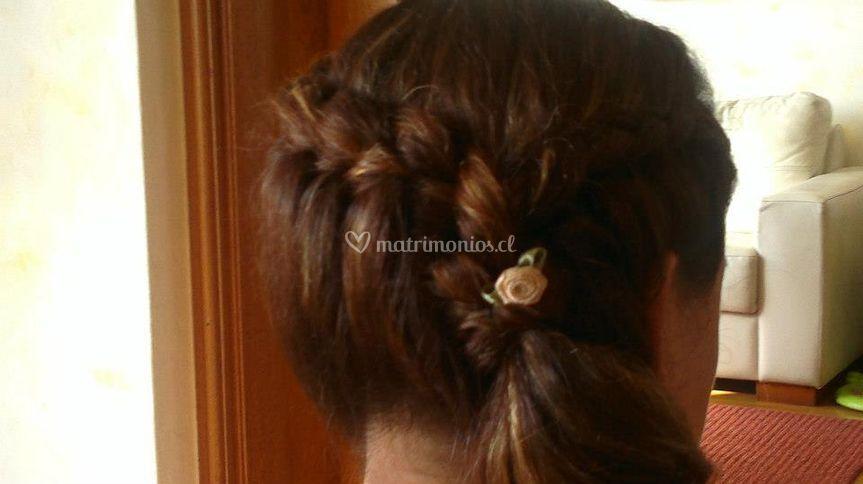 Peinado para madrina de novia