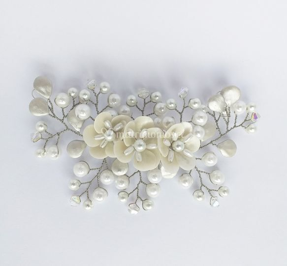 Plata marfil y perlas