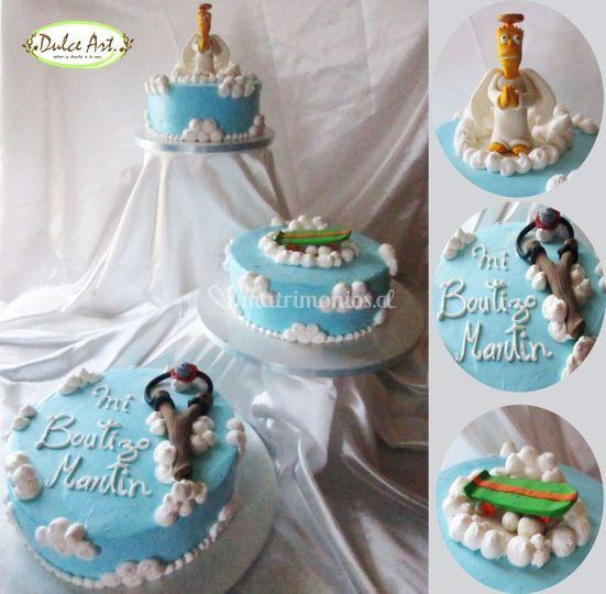 Torta de bautizo tematica