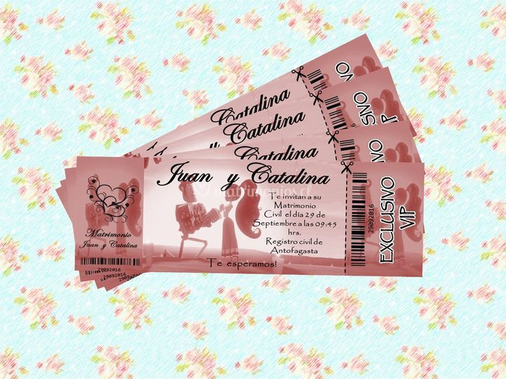 Invitacion ticket