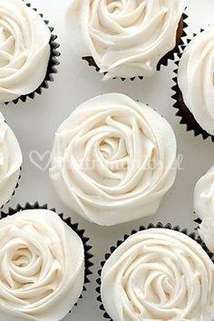 Cup cake rosas