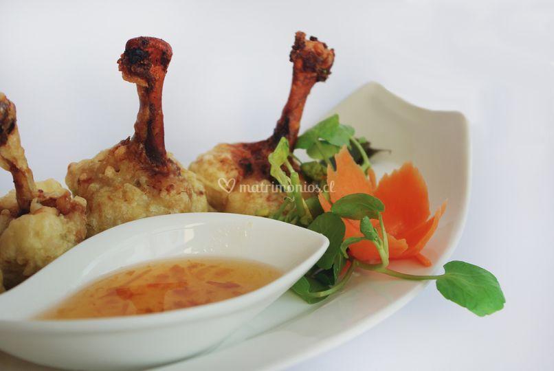Pollitos thai