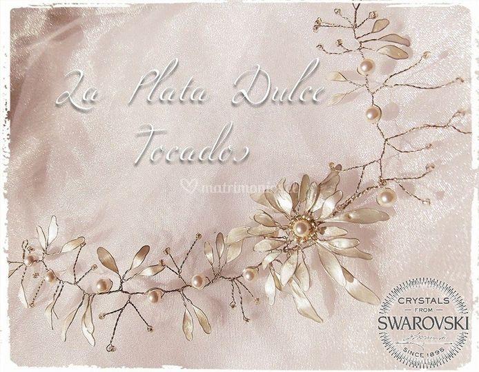 Flores swarvski perlas