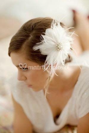 Tocado flor de raso y cristal
