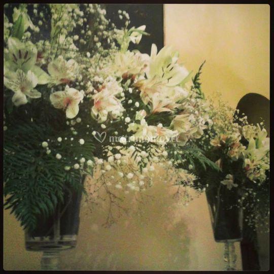 Flores frescas y de hermosas tonalidades