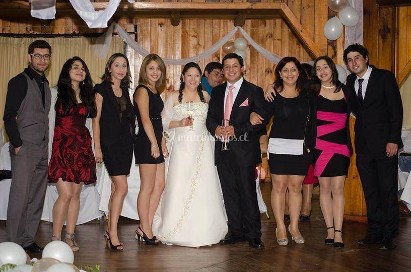 La novia e invitados