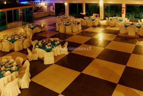 Disposicion de las mesas en el salon