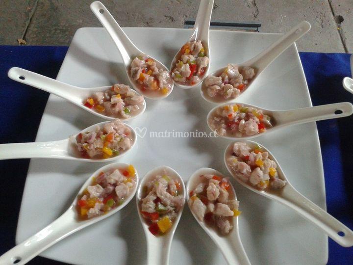 Cucharitas de ceviche