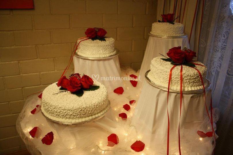 Torta tradicional de novios