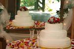 Torta y p�talos de Florer�a Las Violetas