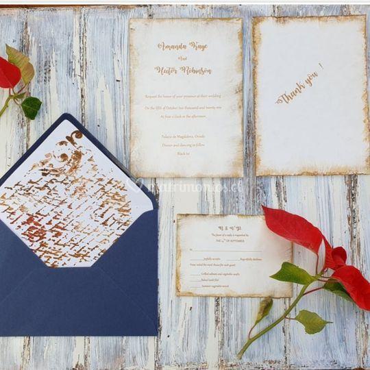 Suite de invitacion y tarjeta