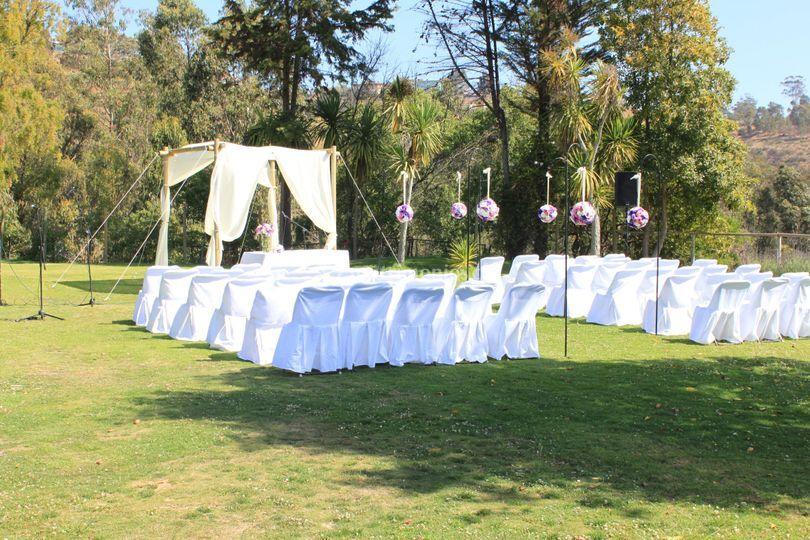 Matrimonio jardín sport