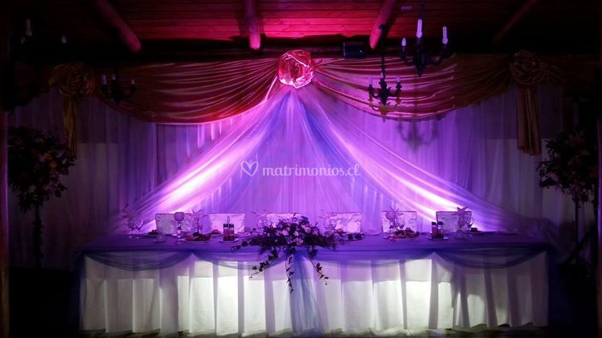 Iluminación de matrimonio de Visual Music