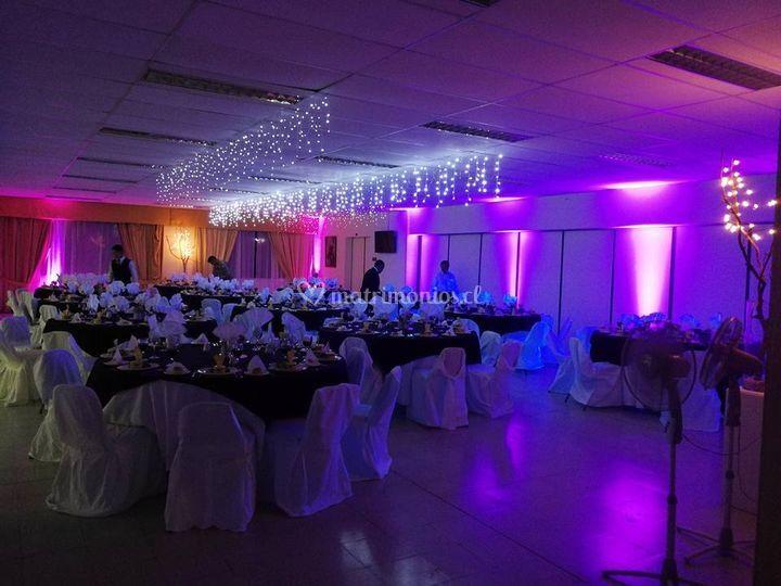 Iluminación para banquetes