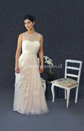 Vestido novia demure