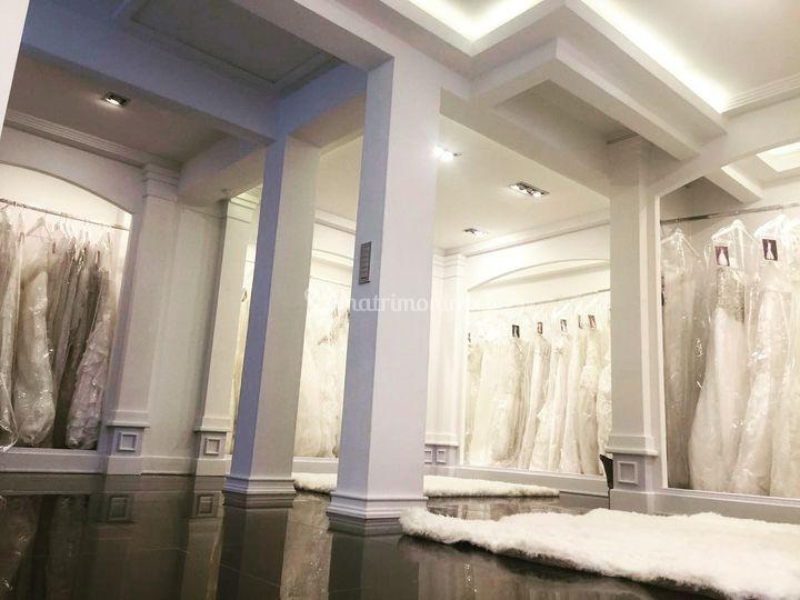 Vista salón de vestidos