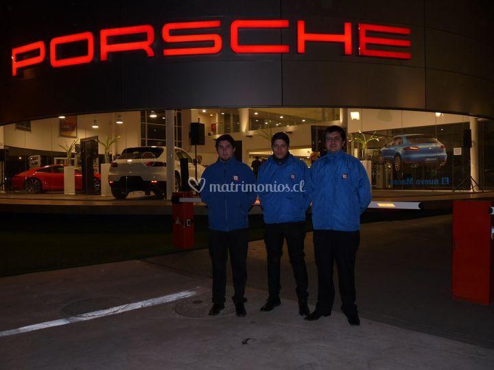 Valet parking en Porsche
