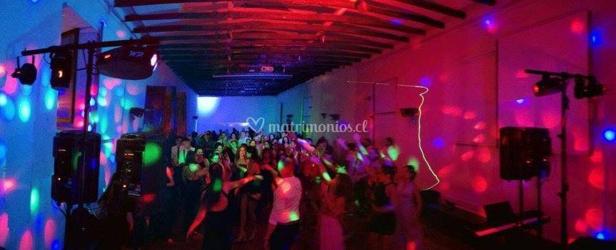 Música e iluminación fiesta