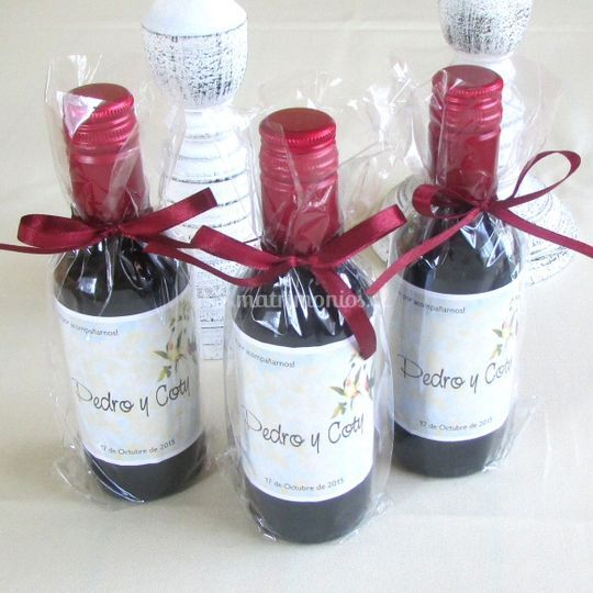 Botellin vino personalizado