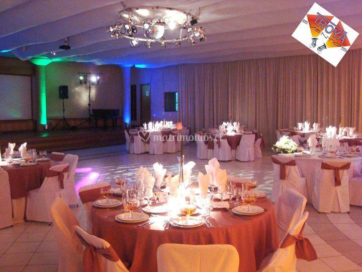 Iluminacion centro de mesas