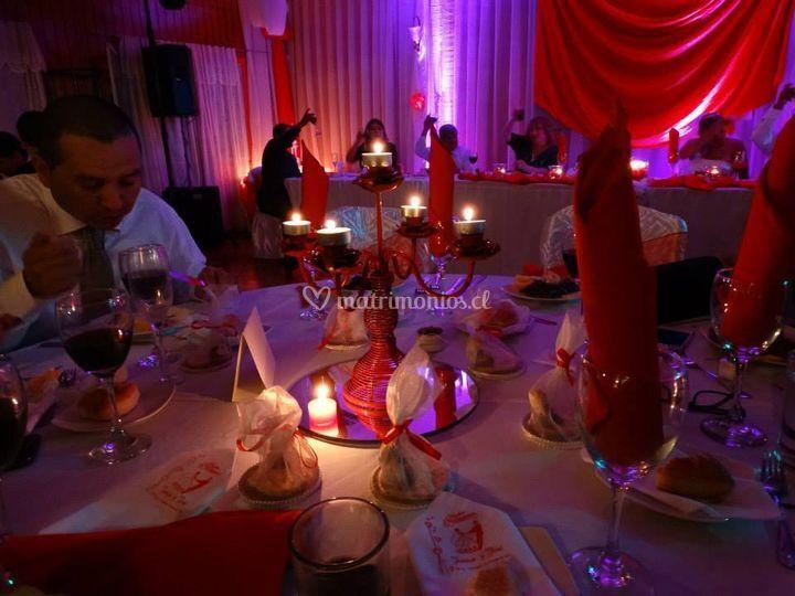 Iluminación de mesas