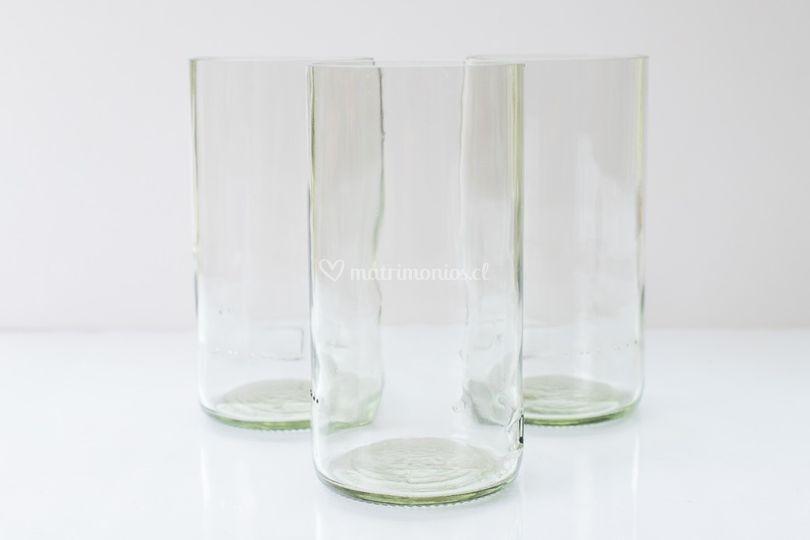 Vasos de botella