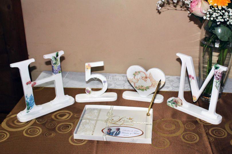 Letras bodas de oro