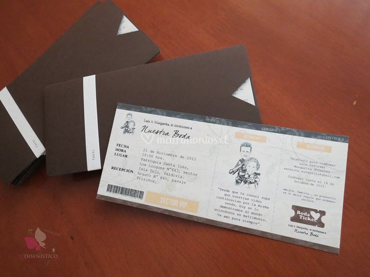Invitación Bodaticket