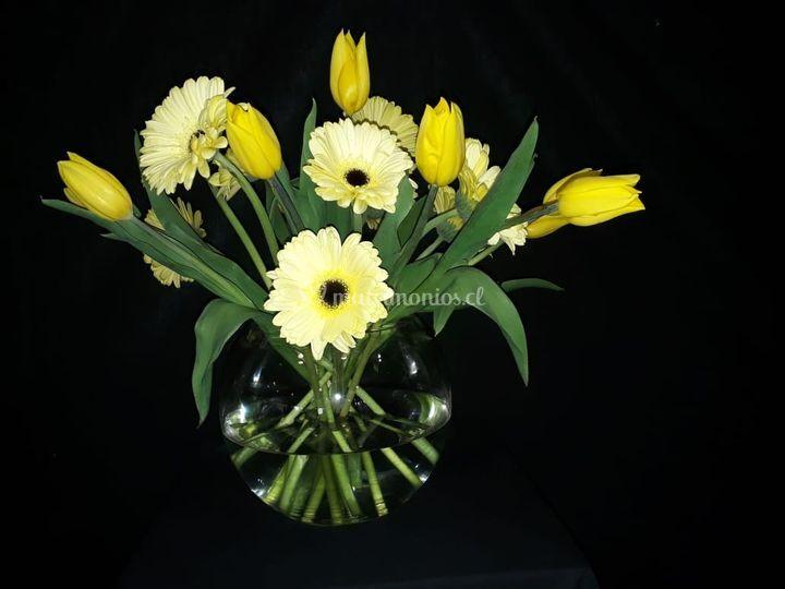 Pecera floral