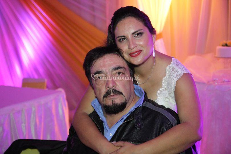 La novia con el padrino