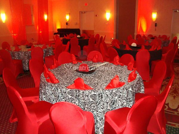 Fundas silla spandex rojo
