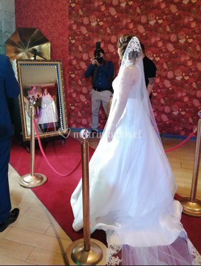 ¡Llegó la novia!