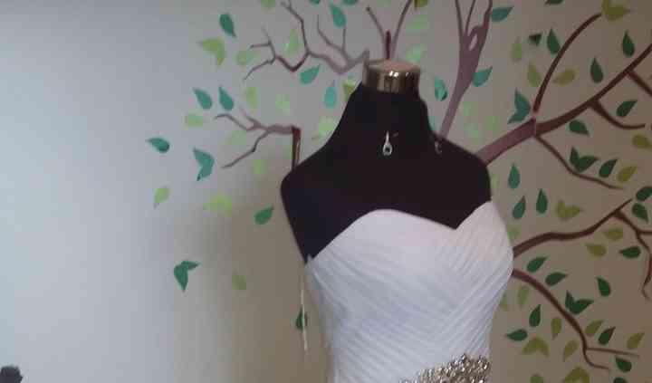 Elegante vestido blanco,