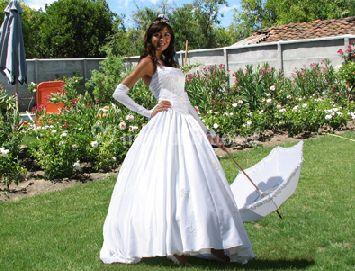 La novia en el jardin