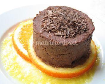 Mousse de chocolate con naranjas