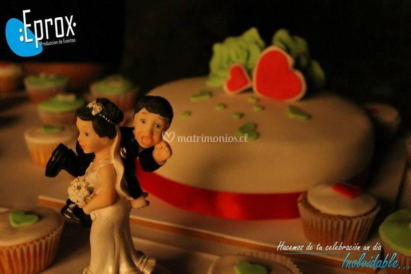 Detalles de la torta
