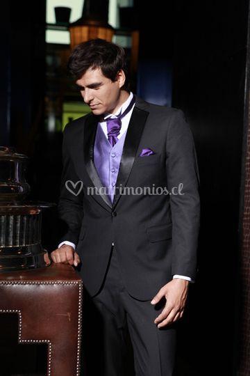 Tuxedo chaleco lila