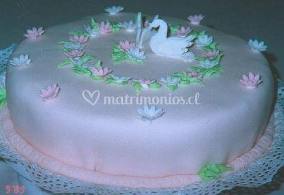 Torta con cisnes