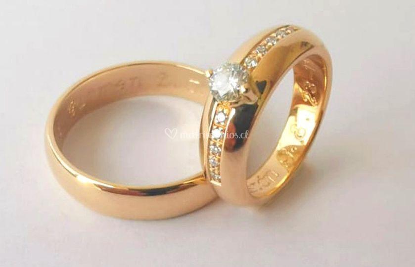 Anillos boda circon/diamantes