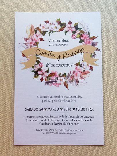 Tarjeta diseño flor / P-A4e