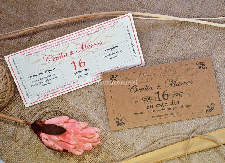 Tarjeta ticket + sobre / P-E5