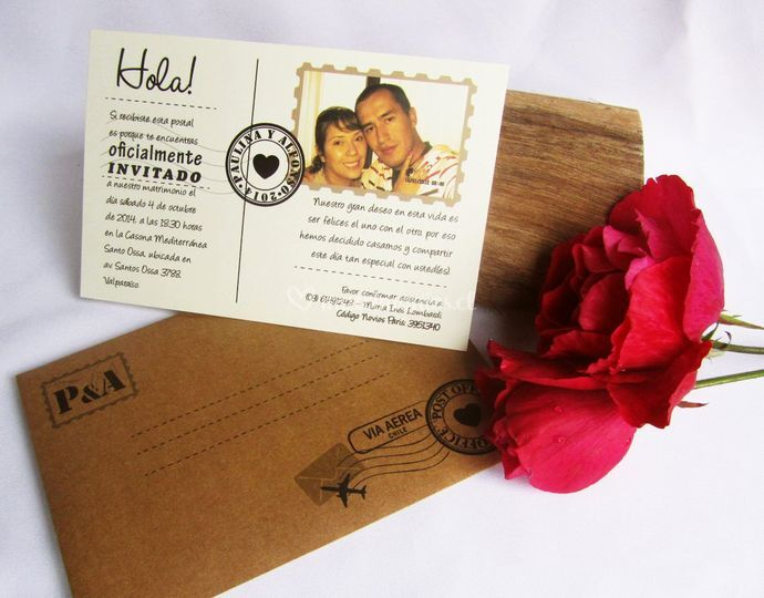 Tarjeta postal + sobre/ P-H1