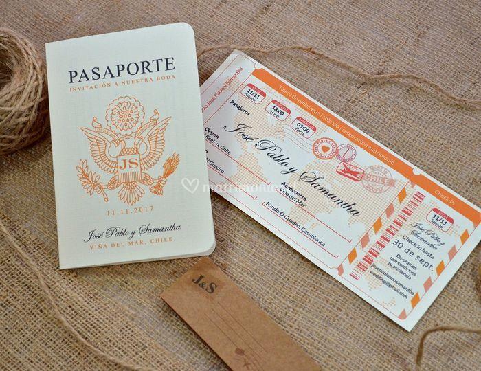 Pasaporte + ticket / PE-13 A3