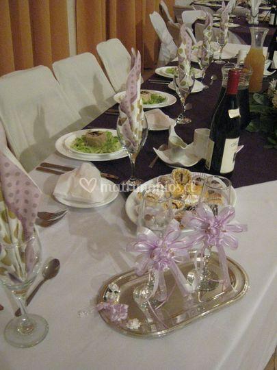 Ornamentación mesa novios