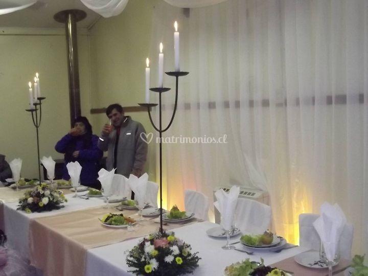 Centros de mesa candelabros