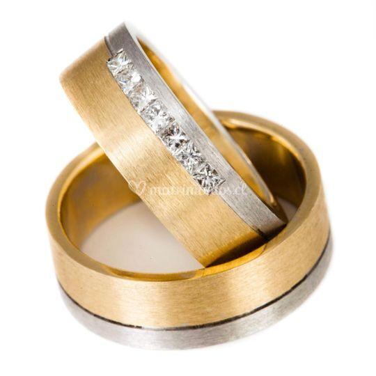 Oro bicolor 19 grs y 7 diamant de Joyas Altamirano