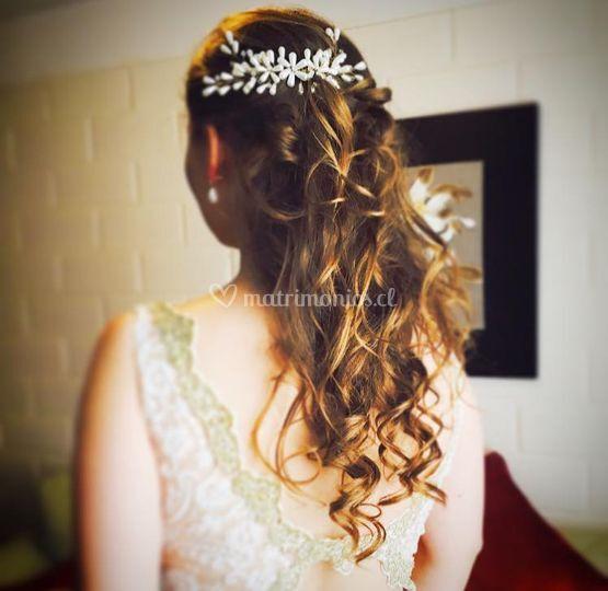 Peinado novia con extensiones