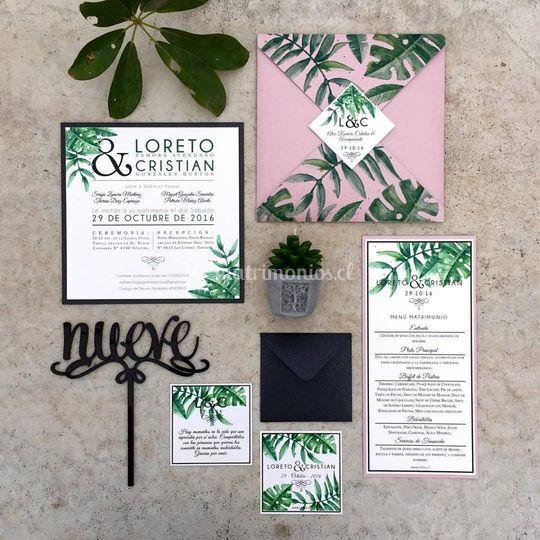 Invitación 4 punta selva