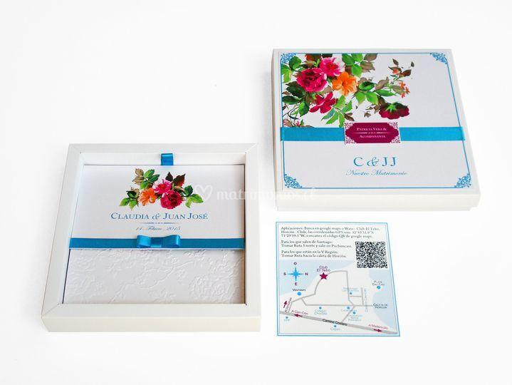Parte en caja modelo flores