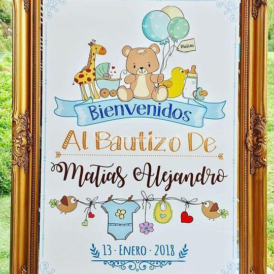 Marco Bienvenida Bautizo